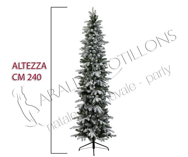 Albero di Natale Slim innevato cm 240