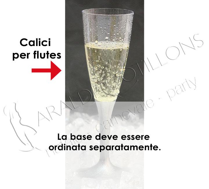 Calici per bicchieri Flutes confezione da 20 pz