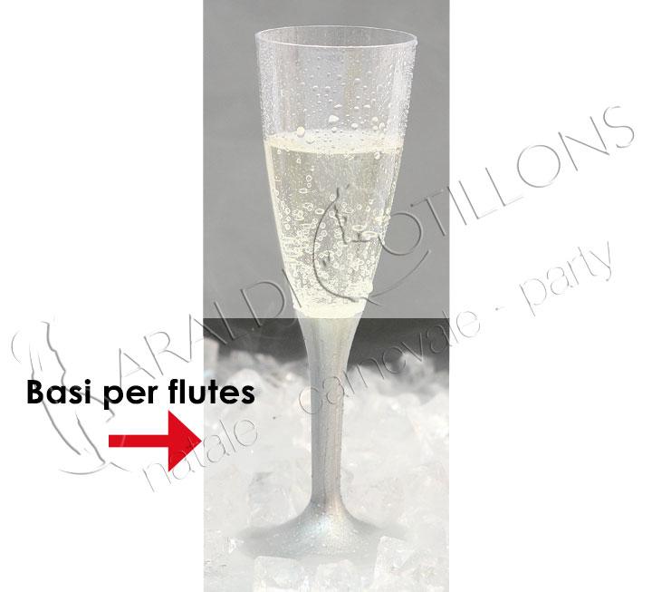 Basi per flutes in plastica colore bianco