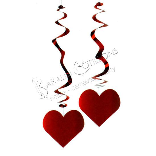 Decorazione con spirali a forma di cuore