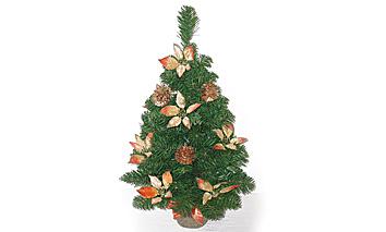 Alberino stelle di Natale decoro rame