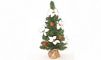 Alberino stelle di Natale decoro oro