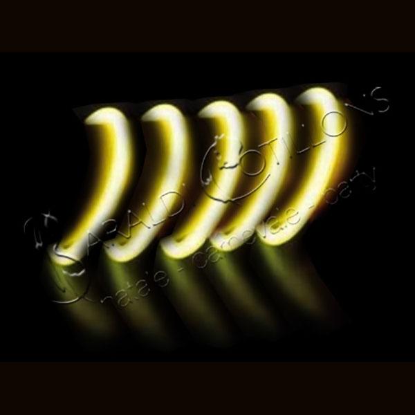 Braccialetti luminosi gialli conf 100 pz