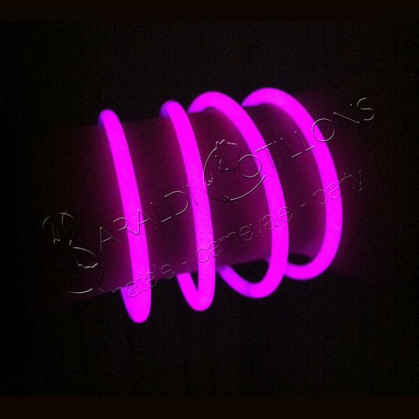 Braccialetti luminosi rosa conf 100 pz