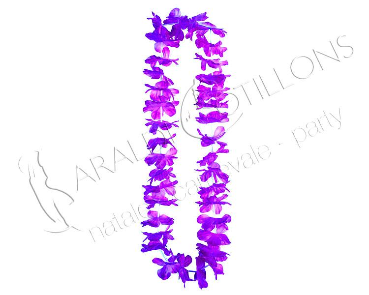 Collana hawaiana fiori viola