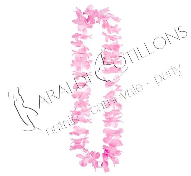 Collana hawaiana fiori rosa