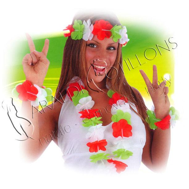 Parure tricolore per festa a tema Italia