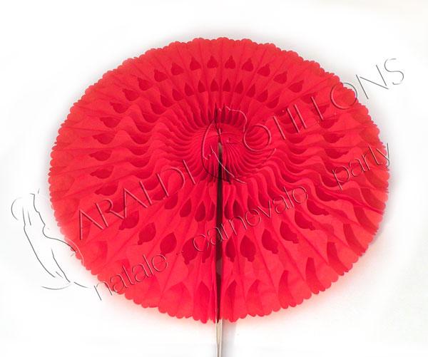 Ventaglio Rosone in carta rosso ignifugo