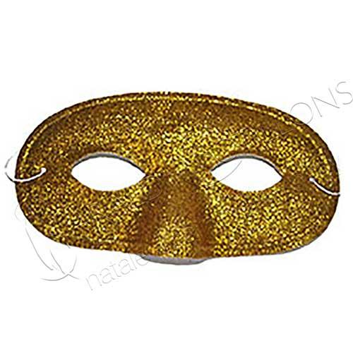 Maschera uomo glitter oro