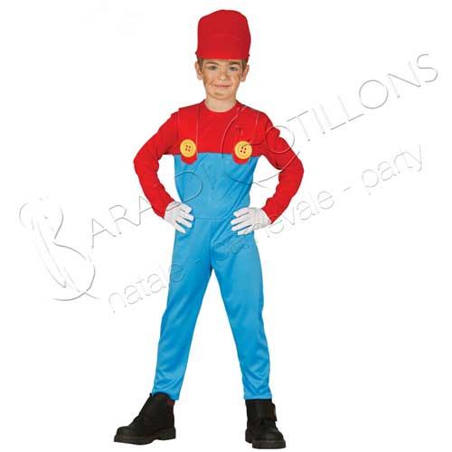 Costume stile Super Mario bimbo 7 - 9 anni