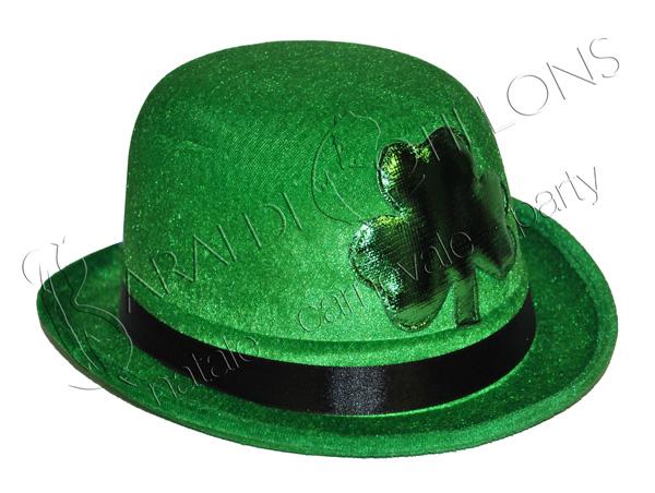Bombetta Verde con trifoglio San Patrick