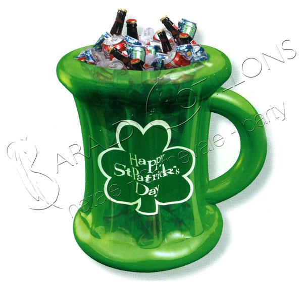 Boccale birra gonfiabile St. Patrick