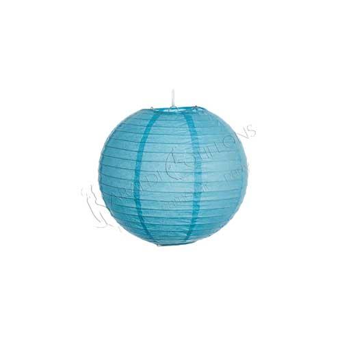Globo lanterna in carta azzurra cm 25