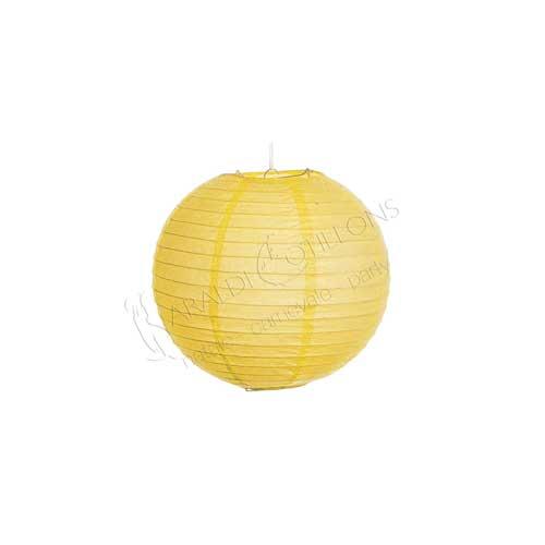 Globo lanterna in carta giallo cm 25