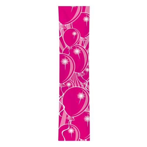 Banner decoro balloons Rosa mt 3