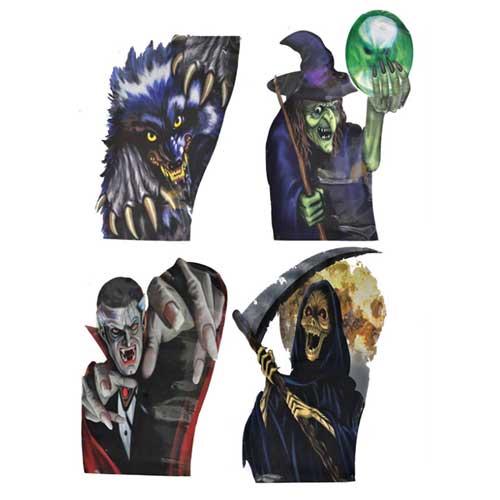 Decori Halloween per finestra cm 50 conf 4 pezzi