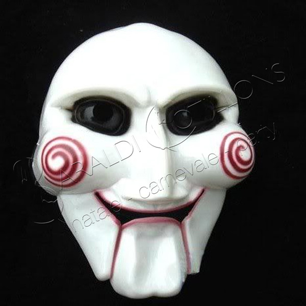 Maschera stile SAW, l'Enigmista