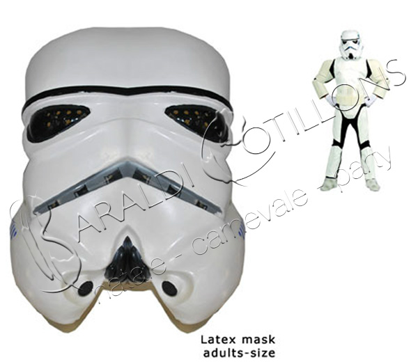 Maschera StormTrooper stile Star Wars - Guerre Stellari