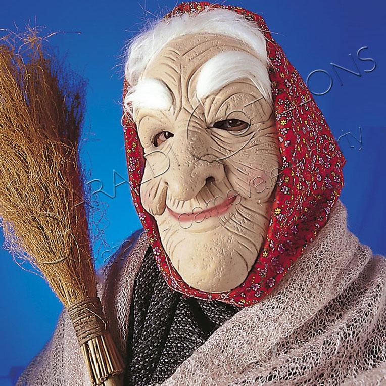 Maschera Befana con capelli e Fazzoletto