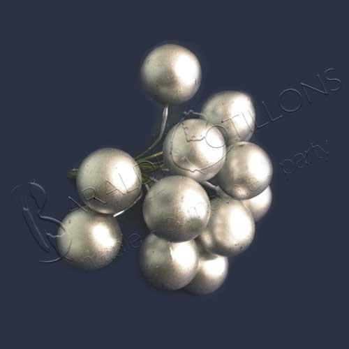 Set 12 bacche argento mm 20