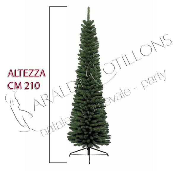 Albero di Natale Slim verde cm 210