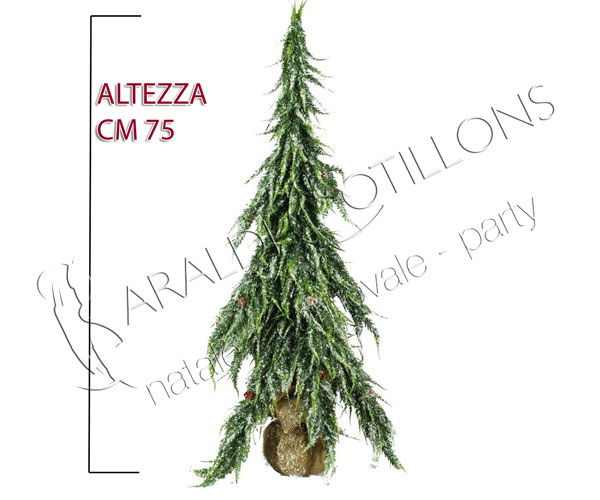 Alberino di Natale innevato cm 75