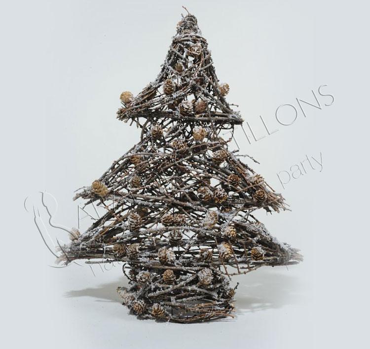 Alberino di Natale rametti innevati