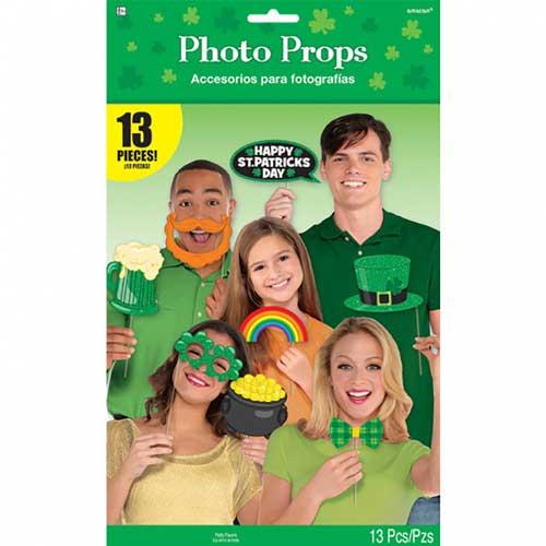 Bastoncini San Patrick photo booth set 13 pezzi