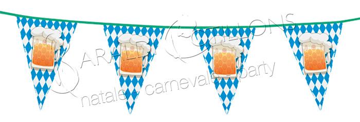 Bandierine Festa della Birra mt 6