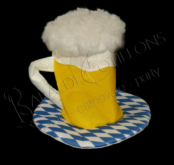 Mini Cappello Birra c/fermacapelli