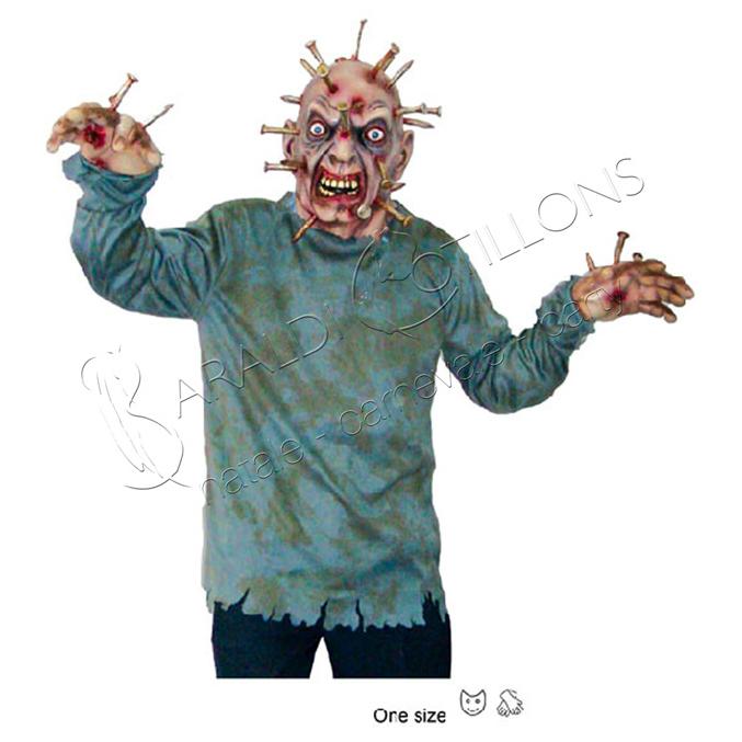 Costume da Zombie con chiodi
