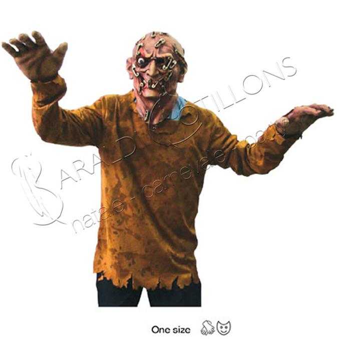 Costume da Zombie con spille da balia