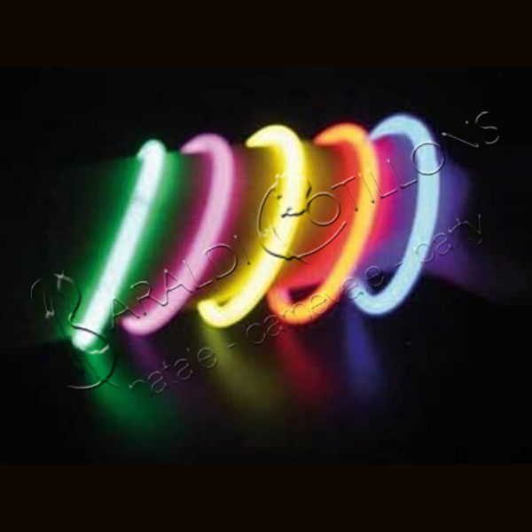 Braccialetti luminosi multicolor conf 15 pz