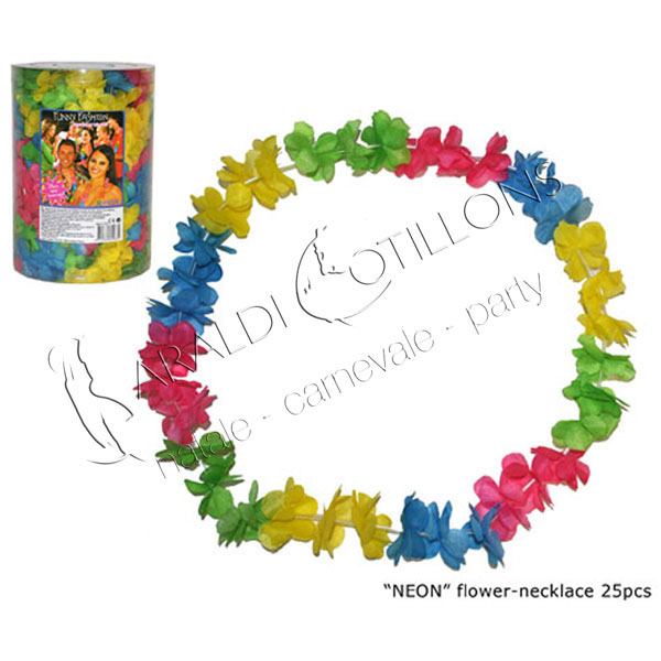 Collana Hawaiana colori neon box 25 pezzi
