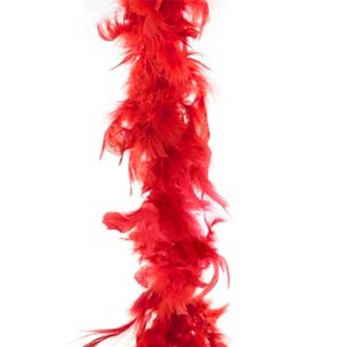 Boa piume rosso