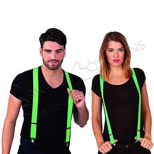 Bretelle neon colore verde