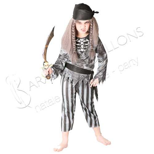 costume pirata fantasma 7/9 anni tk012x