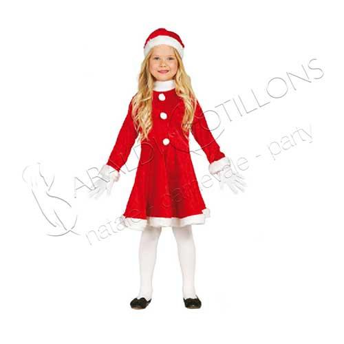 Costume Babbo Natale bimba 7 - 9 anni