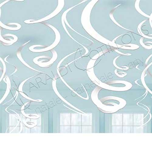 Decoro spirali bianche cm 56 set 12 pezzi