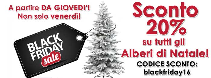 Black Friday Alberi di Natale