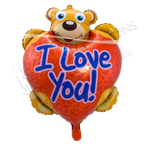 PALLONE FOIL ORSETTO I LOVE YOU cm 57 x 80
