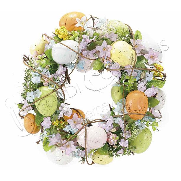 Ghirlanda Pasquale con fiori e uova
