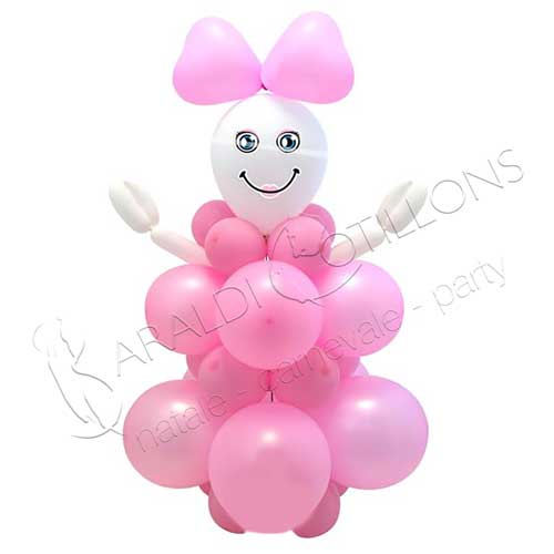 Kit palloncini baby rosa