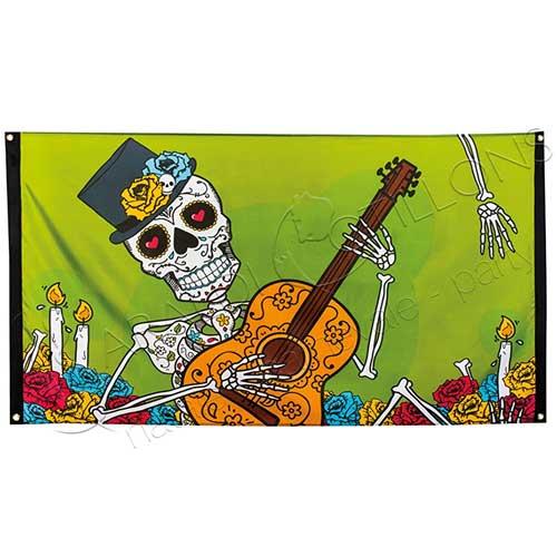 Bandiera Dia de Los Muertos mt 1,50