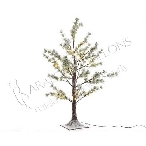 Albero di Natale innevato con luci led cm 210