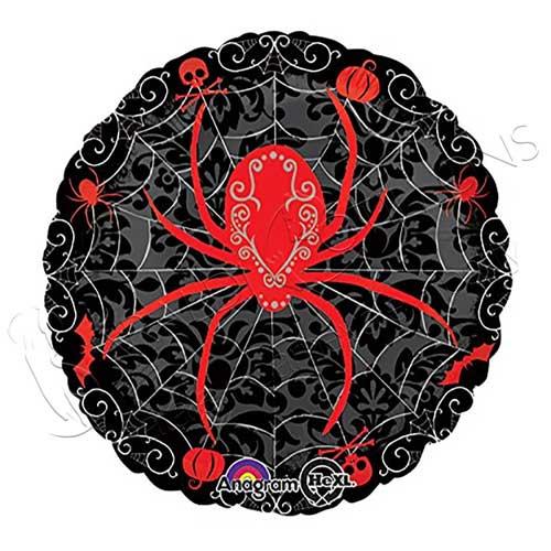 Pallone foil nero con ragno