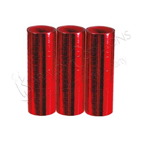 Stelle filanti metallizzate Rosso conf 3 pezzi