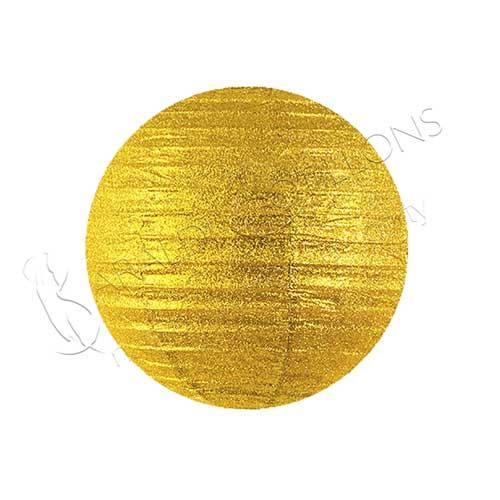 Globo Lanterna in carta glitter Oro cm 35