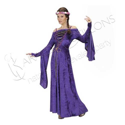 Costume stile Rapunzel viola