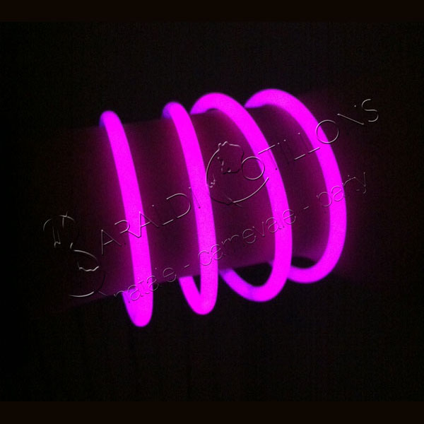 Braccialetti luminosi rosa conf 50 pz